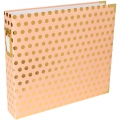 Album Project Life de Becky Higgins 30.5x30.5 cm Gold dot on Blush Rose