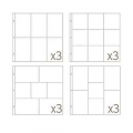 Set with 12 picture pockets 30.5x30.5 cm for the Album Project Life Assortiment 4