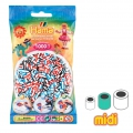 Assortment of Hama Multi beads Striped (n°91)  x1000