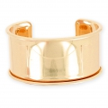 Eco Brass bracelet base with curved edge 35mm gold rose x1
