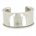 Eco Brass bracelet base with curved edge 35mm silver tone x1