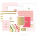 Set with 12 cards 15x10-7.5x10cm fr the Album Project Life DIY Petite Fille