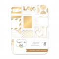 Set with 18 cards 7.5x10cm gold tone Love for the Album Project Life DIY
