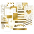 Set with 40 cards 15x10-7.5x10cm for the Album Project Life DIY Doré Love