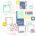 Set with 100 cards 5x5-10x10 cm  for the Album Project Life Pink