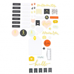 Set with 56 stickers  for theAlbum Project Life DIY topic Tous les jours
