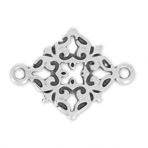 spacer filigreed cross 21 mm old silver tone  x1