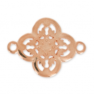spacer filigreed flower  21 mm Rose gold tone x1