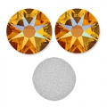Swarovski stick-on rhinestones 6mm Tangerine Shimmer x10