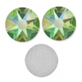 Swarovski stick-on rhinestones 6mm Peridot Shimmer x10