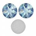 Swarovski stick-on rhinestones 6mm Light Sapphire Shimmer x10