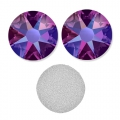 Swarovski stick-on rhinestones 6mm Fuchsia Shimmer x10