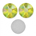 Swarovski stick-on rhinestones 6mm Citrine Shimmer x10