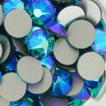 Swarovski stick-on rhinestones 6mm Blue Zircon Shimmer x10