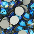Swarovski stick-on rhinestones 6mm Black Diamond Shimmer x10