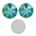 Swarovski stick-on rhinestones 4mm Blue Zircon Shimmer x36