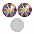 Swarovski stick-on rhinestones 2088 3mm Topaz Shimmer x36