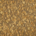 Fabric in natural cork - wide bark gold glitter  x10cm