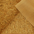 Fabric in natural cork - fine bark gold glitter x10cm