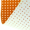 Vinyl Fabric for embroidery laquered and drilled - Orange x10cm