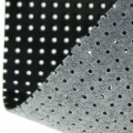 Vinyl Fabric for embroidery laquered and drilled - black x10cm
