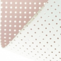 Vinyl Fabric for embroidery laquered and drilled - light pink x10cm