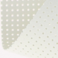 Vinyl Fabric for embroidery laquered and drilled - white x10cm