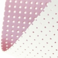 Vinyl Fabric for embroidery laquered and drilled - pearl pink x10cm