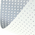 Vinyl Fabric for embroidery laquered and drilled - Argenté x10cm