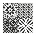 Decorative stencil medium size 30x30 cm Cement Tiles modell 2