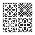 Decorative stencil medium size 30x30 cm Cement Tiles modell 1
