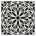 Decorative stencil medium size 30x30 cm Mandalas