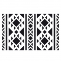 Decorative stencil medium size 10x15 cm navajo background