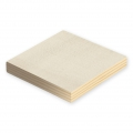 Set with 2 square wooden Bases to decorate 12.5x12.5 cm Natural