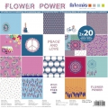 Paper Pad scrapbooking 30.5x30.5 cm Flower Power x40 sheets