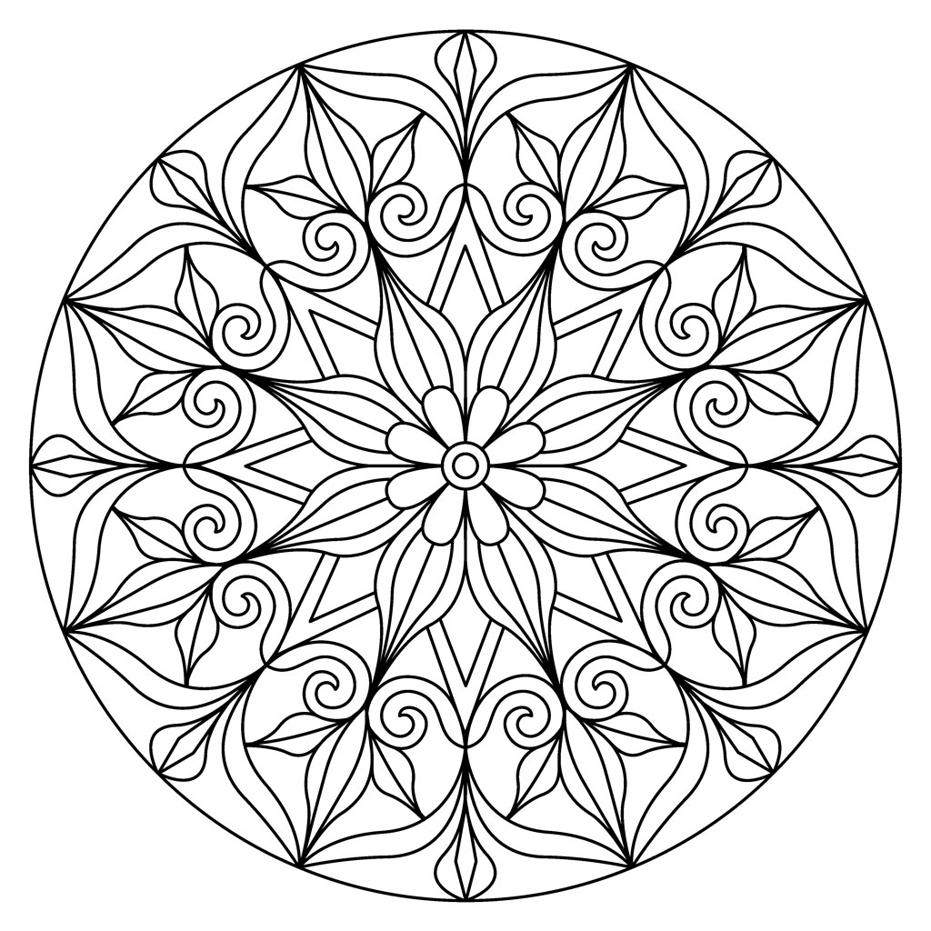 Wooden stamp Mandalas 7.5 x 7.5 cm little model flower x1 - Artemi - Perles & Co
