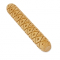 Wooden texture  rolls for polymer clay 100x15mm diamond
