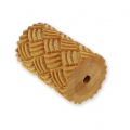 Wooden texture  rolls for polymer clay 60x39mm basket weave