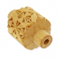 Wooden texture  rolls for polymer clay 32x38 mm leaf quilt block