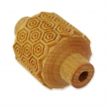 Wooden texture  rolls for polymer clay 32x38 mm honeycomb