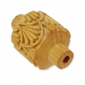 Wooden texture  rolls for polymer clay 32x38 mm art nouveau