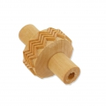 Wooden texture  rolls for polymer clay 15x38 mm herringbone
