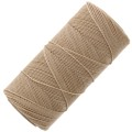 Linhasita wax thread bobbin for micro macramé 1 mm Tan x180m