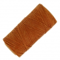 Linhasita wax thread bobbin for micro macramé 1 mm Camel Brown x180 m