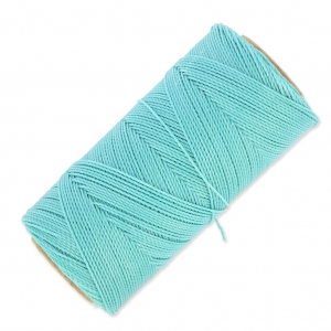 Linhasita wax thread bobbin for micro macramé 1 mm Baby Blue x180m
