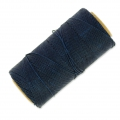Linhasita wax thread bobbin for micro macramé 1 mm Blue Black x180m
