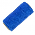 Linhasita wax thread bobbin for micro macramé 1 mm Blue x180m