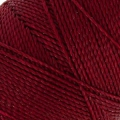 Linhasita wax thread bobbin for micro macramé 1 mm Burgundy x180m