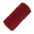 Linhasita wax thread bobbin for micro macramé 1 mm Red x180m