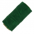 Linhasita wax thread bobbin for micro macramé 1 mm Dark Green x180m